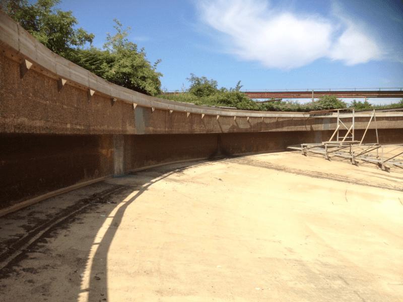 expansion joints tank sealing - polyurea
