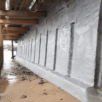 Polyurea Waterproofing of River Wall