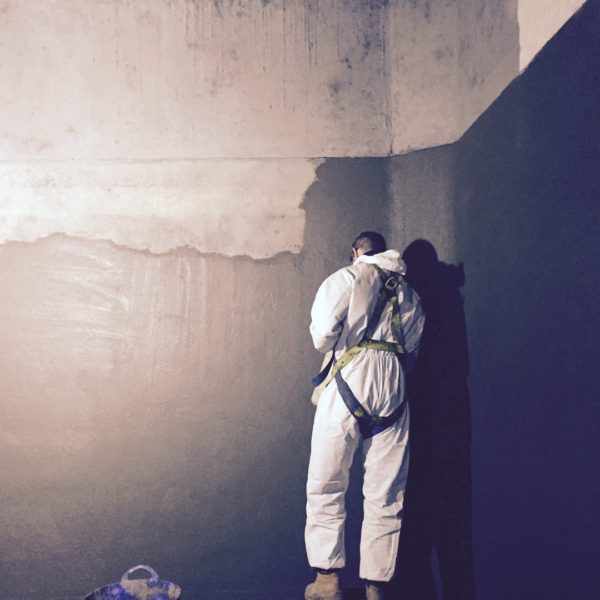 Grout Coat application for Water Tank Relining