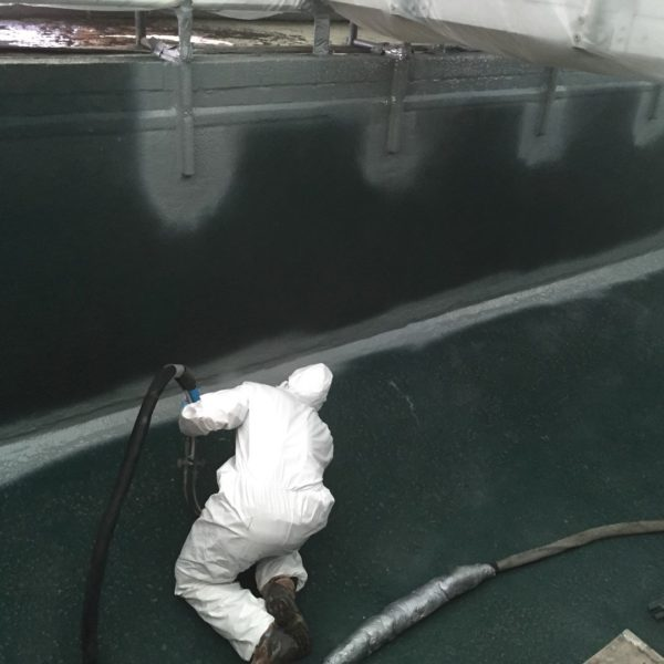 Polyurea Waste Water Tank Relining Existing Hdpe Liner