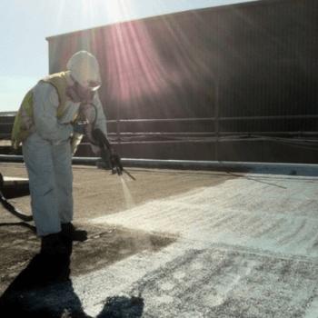 flat roof refurbishment - polyurea