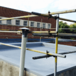 Leaking Flat Roof | Application of spray applied polyurea