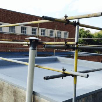 Polyurea flat roof