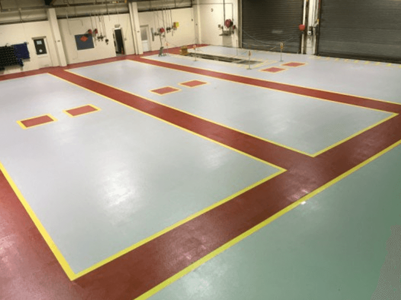Slip resistant, epoxy resin flooring for a client