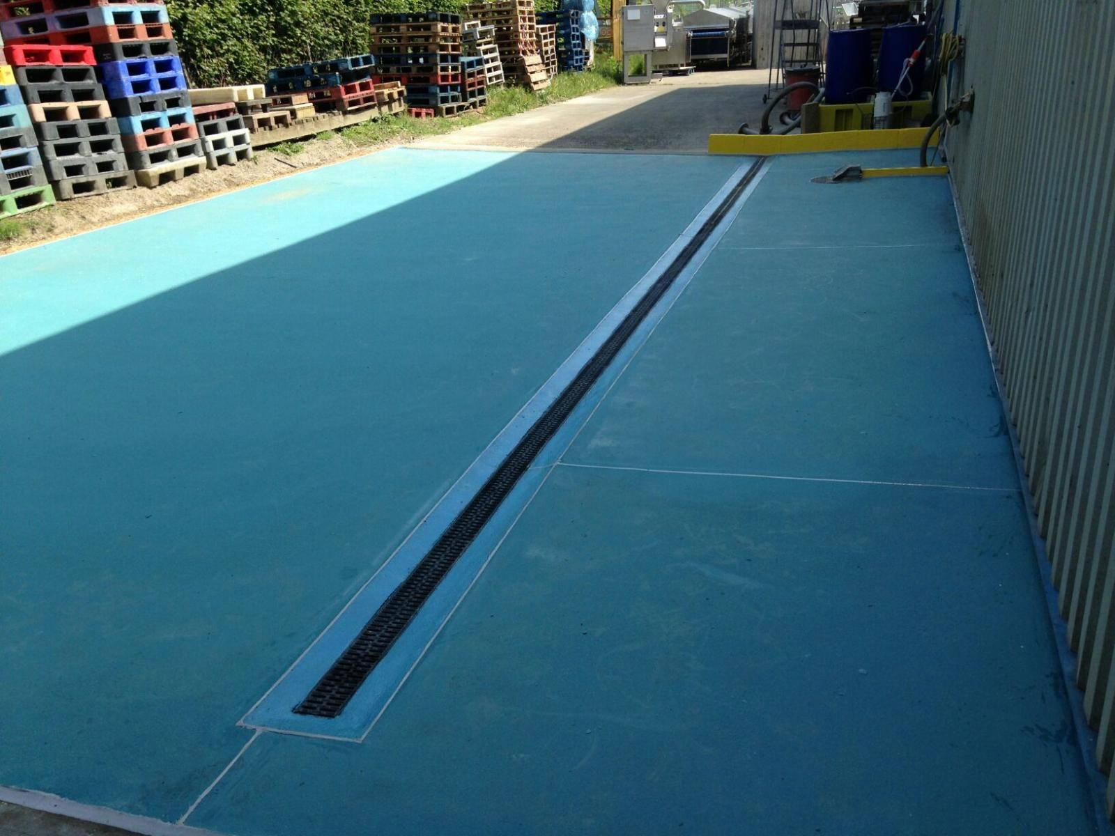 Wash Down area industrial flooring suffolk
