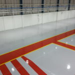 Hangar Refurbishment – New installation of a poured resin floor