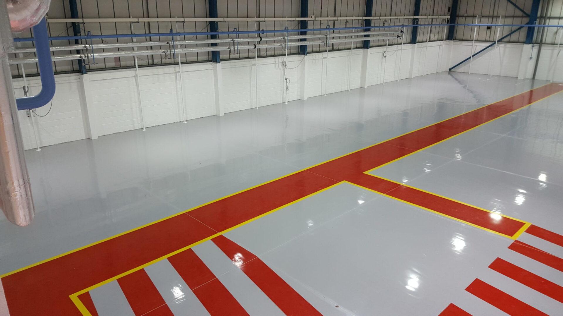 Industrial Flooring in Hangar
