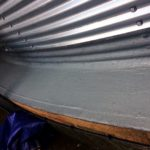 Completed silo base waterproofing