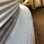 Curing silo base waterproofing