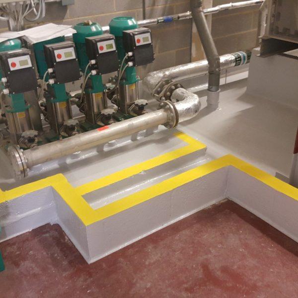Plant room tanking